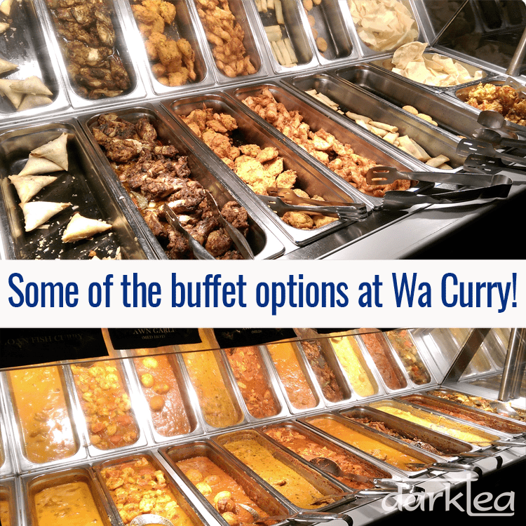 buffet options at wa curry