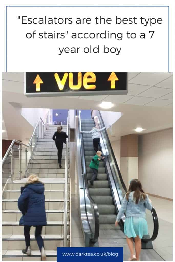 Escalators are my favourite type of stairs - at the Vue cinema Oxford