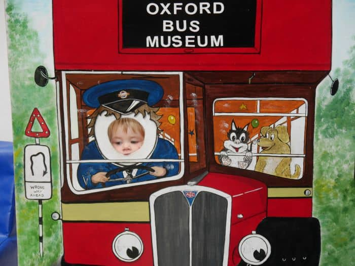 driving the oxford bus museum cut out